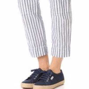 SUPERGA Navy Espadrille Lace Up Sneaker